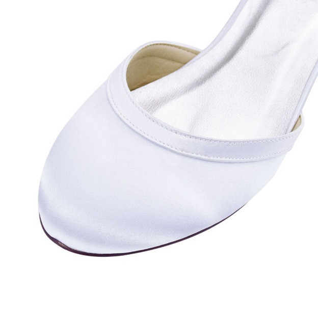 Women's Satin With Buckle Peep Toe Sandals Dance Shoes