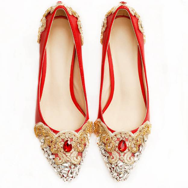Women's Suede With Rhinestone/Crystal Close Toe Heels Wedding Shoes