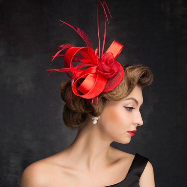Ladies' Elegant/Beautiful Linen Fascinators With Feather Flower Bowknot