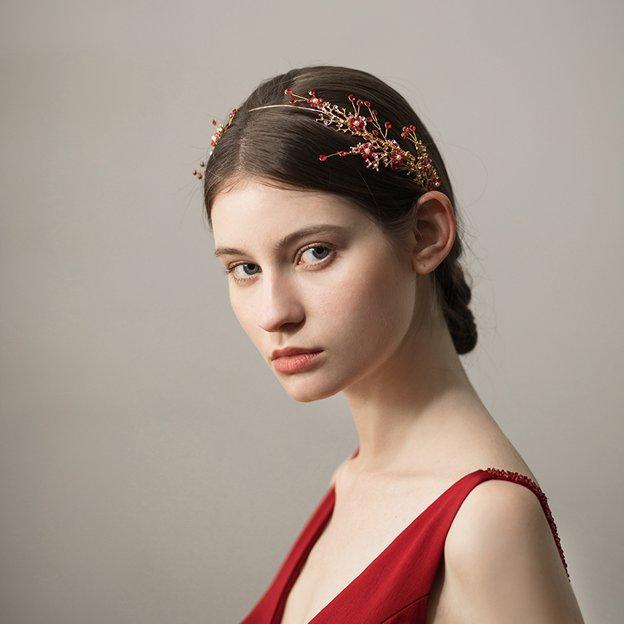 Ladies Elegant/Eye-catching Alloy With Flower Rhinestone Headbands (Sold in single piece)