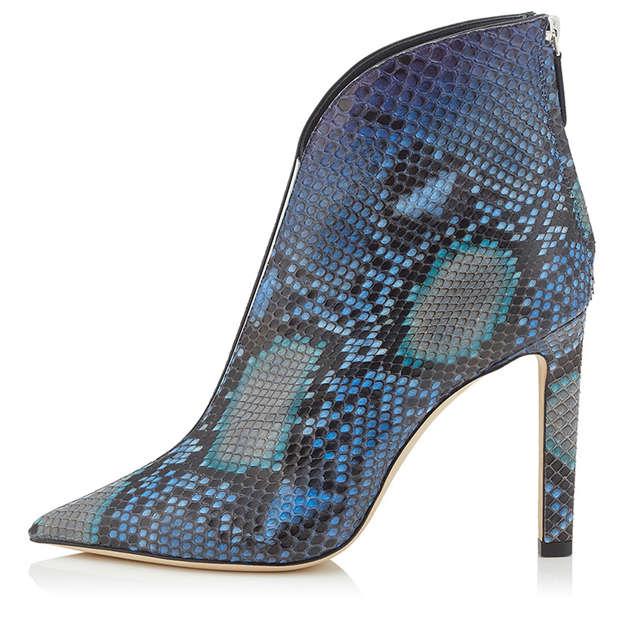 Women's PU With Zipper Close Toe Heels Fashion Shoes