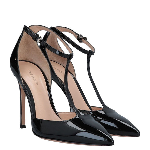 Women's Leatherette With T-Strap/Buckle Heels Fashion Shoes