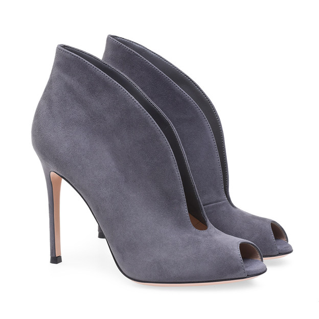 Women's Suede With Hollow-out Ankle Boots Heels Fashion Shoes
