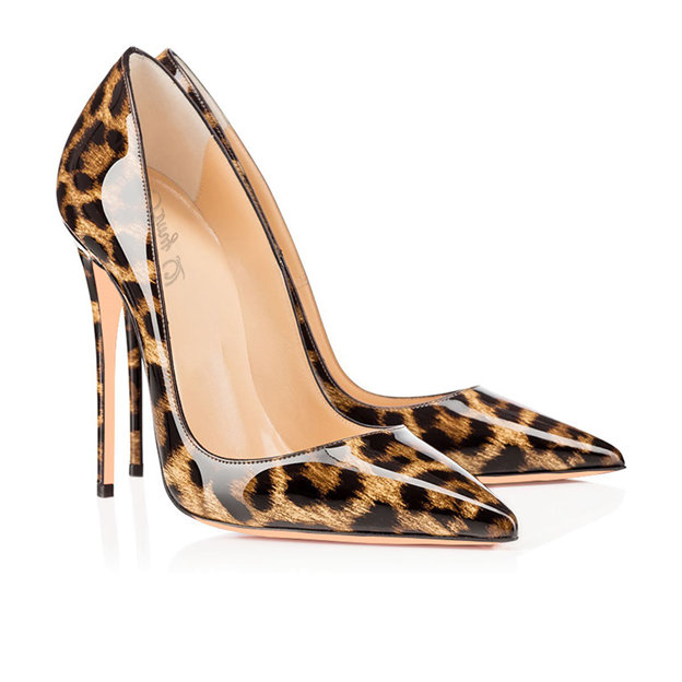 Women's Patent Leather Close Toe Heels Fashion Shoes