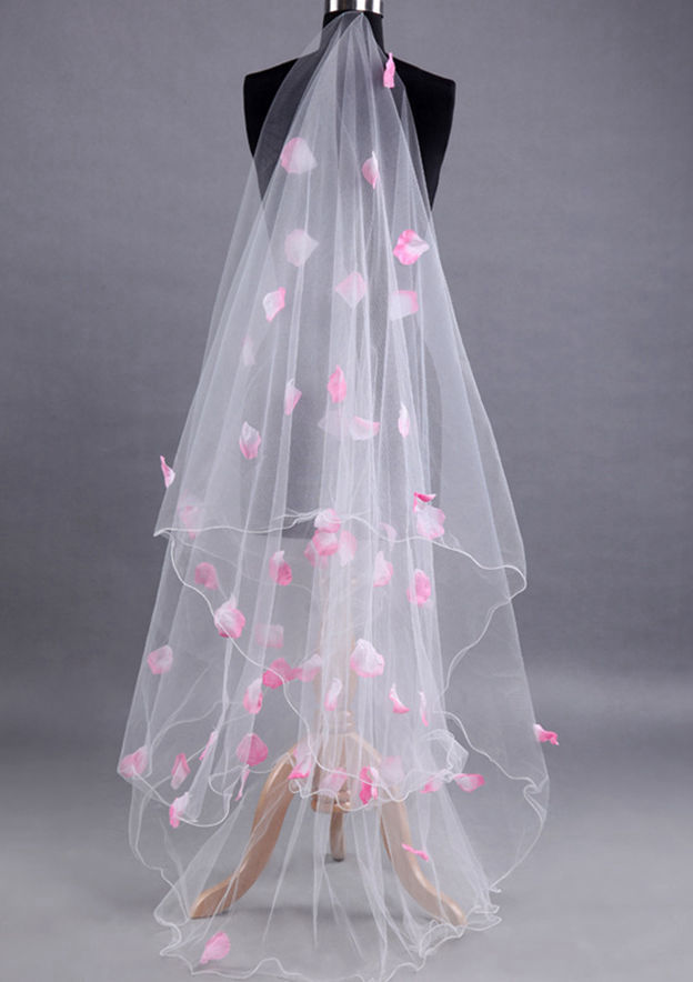 Two-tier Chapel Bridal Veils With Petal