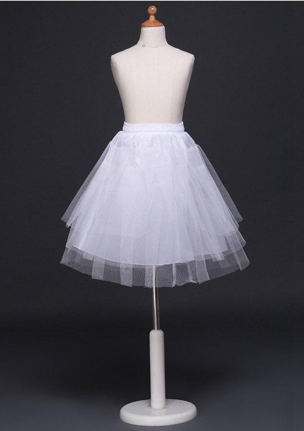 Girl Tulle Netting Short/Mini 4 Tiers Bridal Petticoats