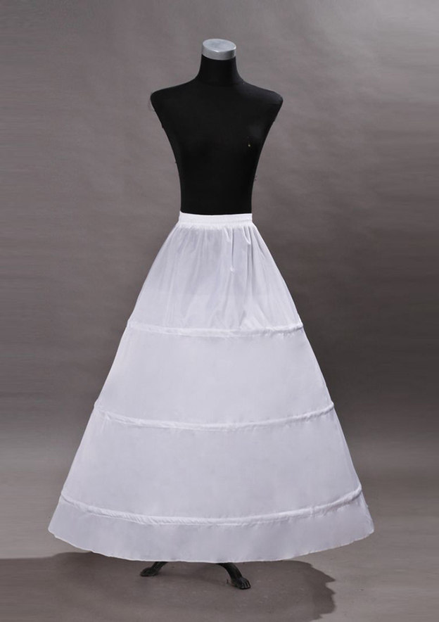 Women Polyester Long/Floor-length 1 Tier Bridal Petticoats