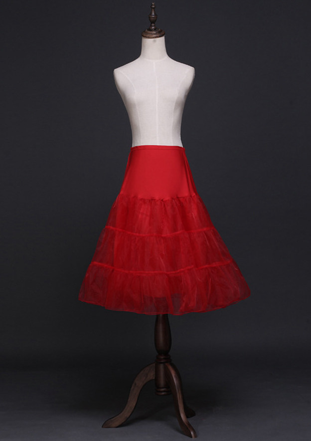 Women Tulle Netting Knee-length 3 Tiers Bridal Petticoats