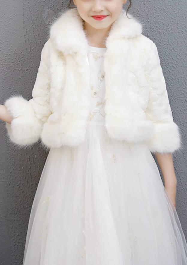 3/4 Sleeve Faux Fur Wedding Wrap Jacket