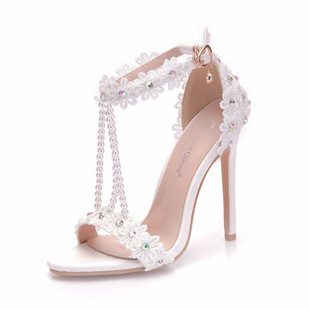 Women's PU With Ankle Strap Peep Toe Fashion Shoes