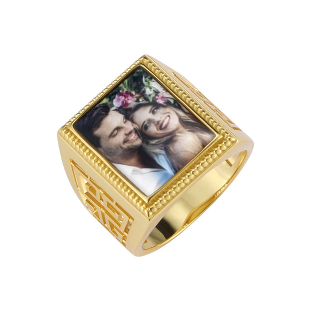 Personalized Customized 925 Sterling Silver Photo Rings