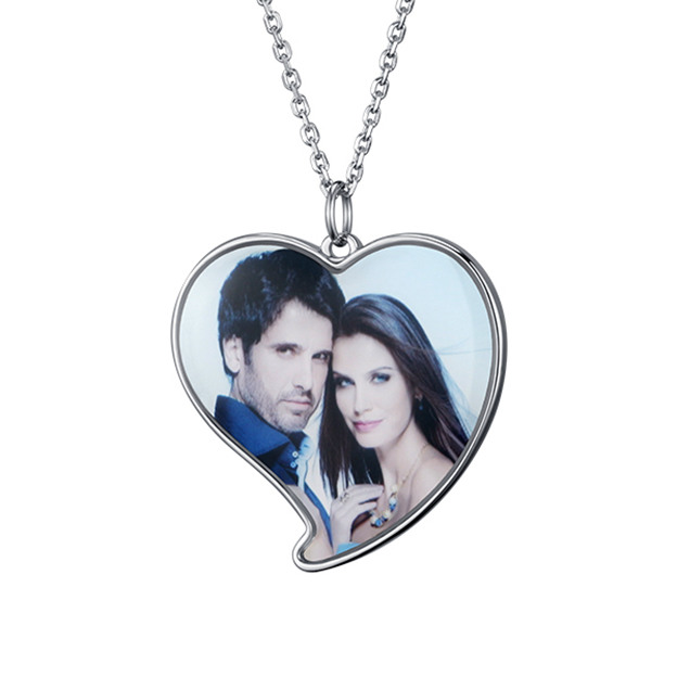 Personalized Customized 925 Sterling Silver Photo Heart Necklaces