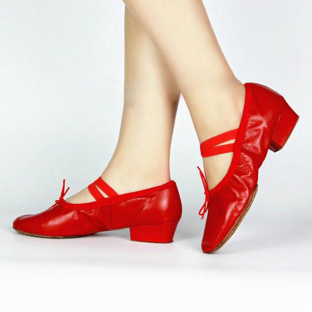 Women's Leather Close Toe Dance Shoes