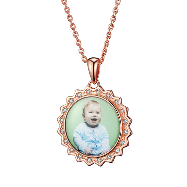 Personalized Customized 925 Sterling Silver Photo Necklaces