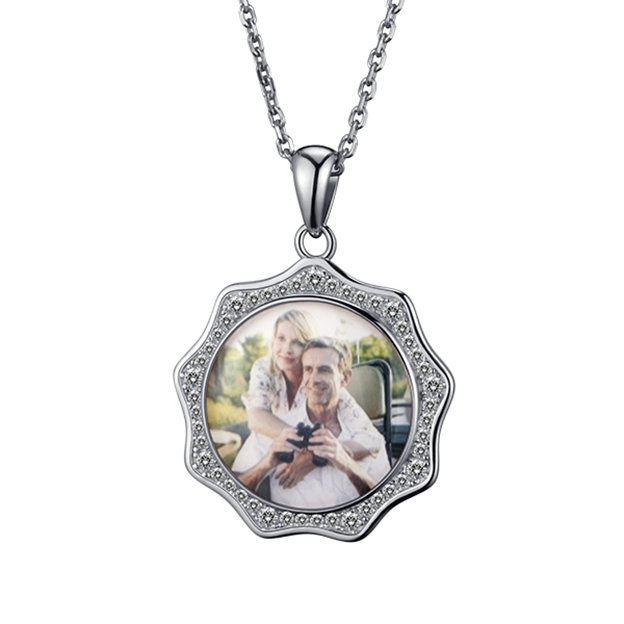 Personalized Customized 925 Sterling Silver Photo Necklaces DIY