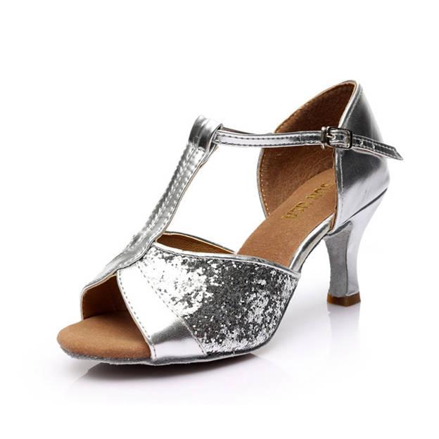 Women's PU/Sparkling Glitter With Buckle Heels/Peep Toe Dance Shoes