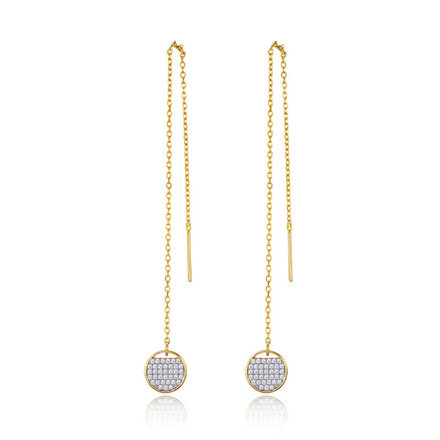 Women's Charming 925 Sterling Silver Earrings With Cubic Zirconia For Her