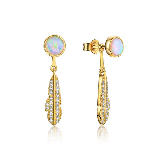 Women's Elegant 925 Sterling Silver Earrings With Cubic Zirconia