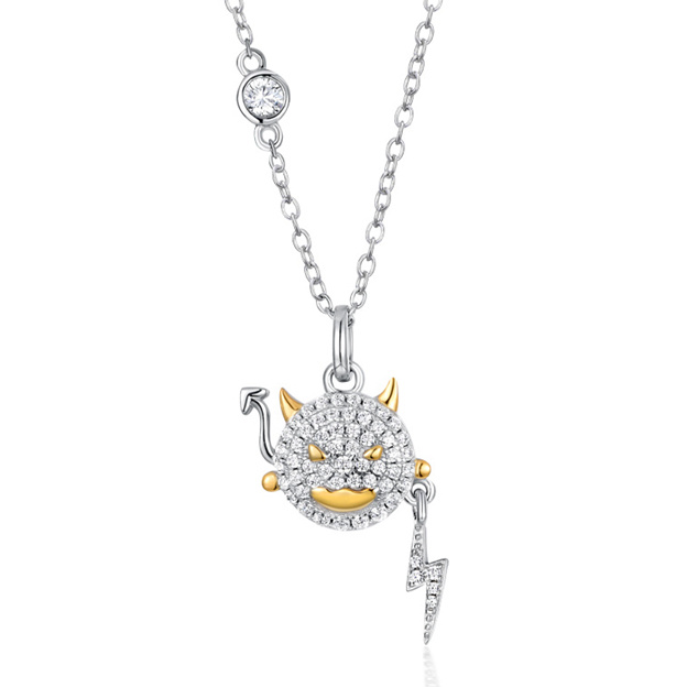 Women's Beautiful 925 Sterling Silver Necklaces With Cubic Zirconia