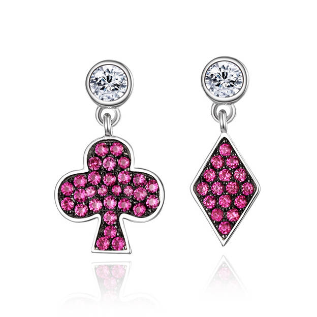 Women's Unique 925 Sterling Silver Earrings With Cubic Zirconia For Her