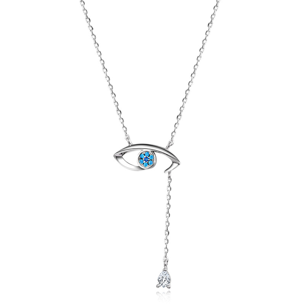 Women's Charming 925 Sterling Silver Necklaces With Cubic Zirconia