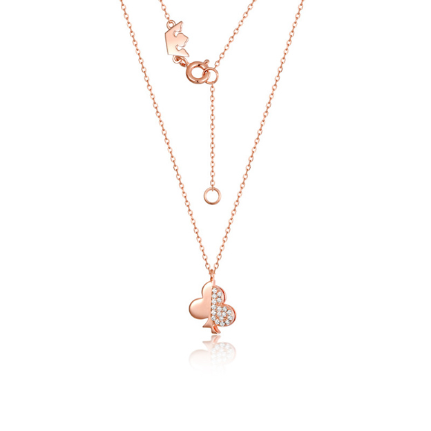 Women's Charming 925 Sterling Silver Necklaces With Cubic Zirconia For Her