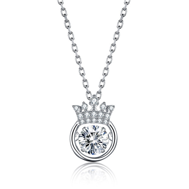 Women's Beautiful 925 Sterling Silver Necklaces With Cubic Zirconia For Her