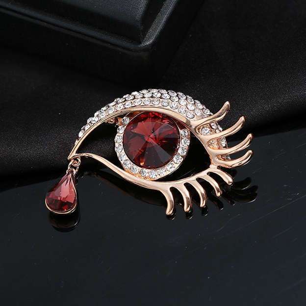 Ladies' Beautiful Alloy Brooches With Rhinestone For Women
